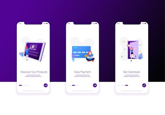 Illustration De L'écran D'accueil Du Commerce électronique Vecteur Premium