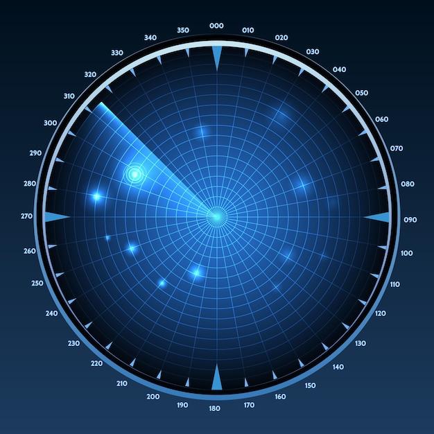 Illustration De L'écran Radar. Vecteur gratuit