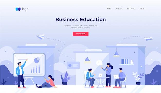Illustration De L'éducation Commerciale Pour La Conception De Sites Web Vecteur Premium