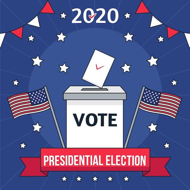 Illustration De L'élection Présidentielle Américaine Vecteur gratuit