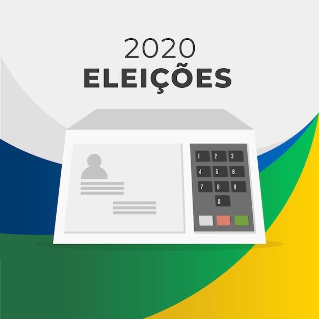 Illustration Des élections 2020 Au Brésil Vecteur Premium