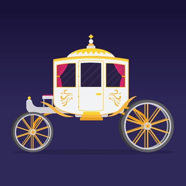 Illustration De L'élégant Chariot De Conte De Fées Vecteur gratuit