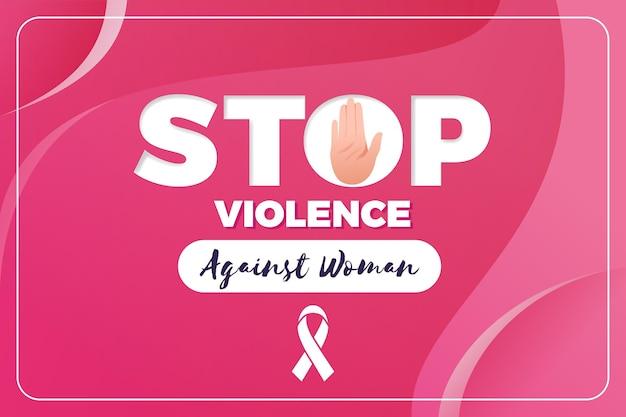 Illustration De L'élimination De La Violence Contre Les Femmes Vecteur gratuit