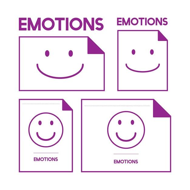 Illustration de l'émotion souriante Vecteur gratuit