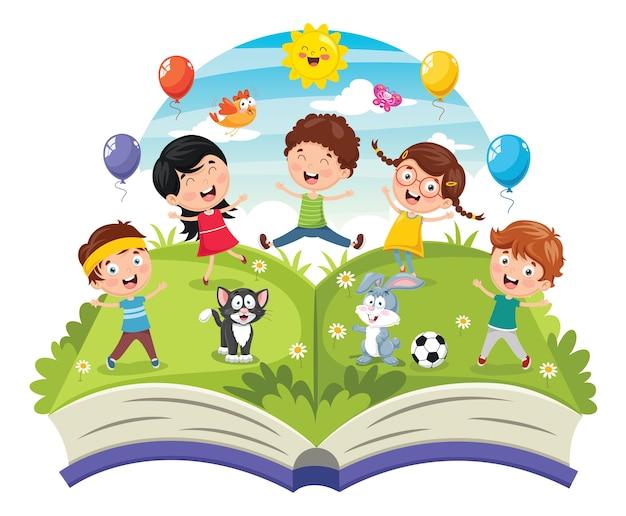 Illustration des enfants Vecteur Premium