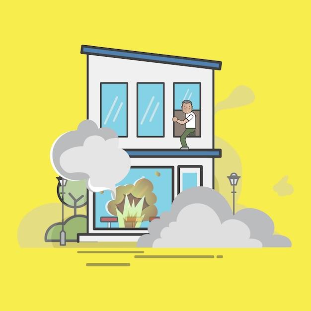 Illustration de l'ensemble de vecteur de pompier Vecteur gratuit