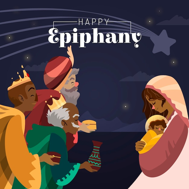 Illustration D'épiphanie Dessinée à La Main Vecteur gratuit