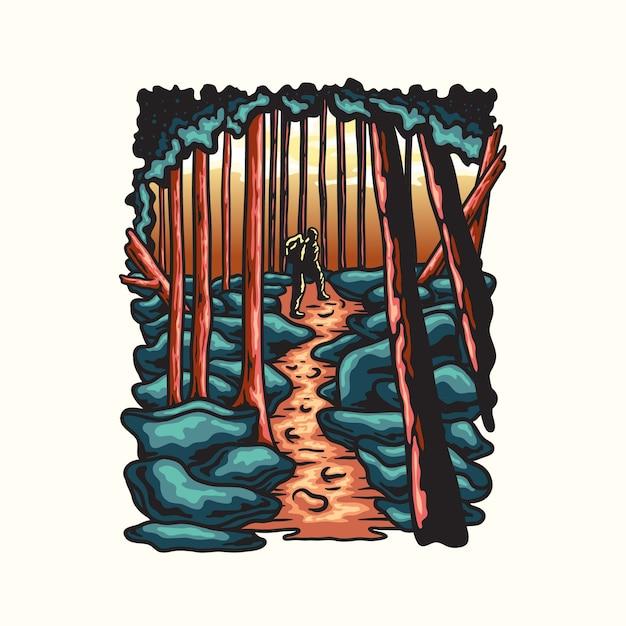 Illustration D'escalade De Montagne Vecteur Premium