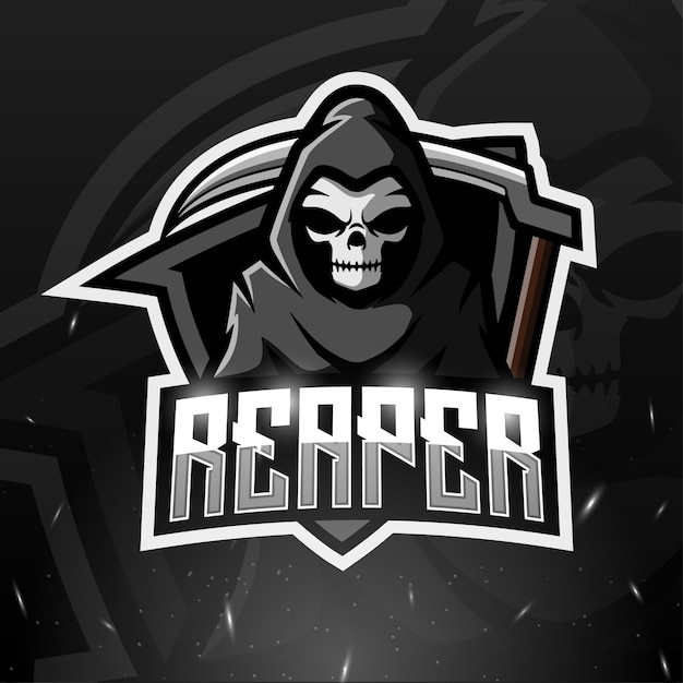Illustration Esport Mascotte Reaper Vecteur Premium