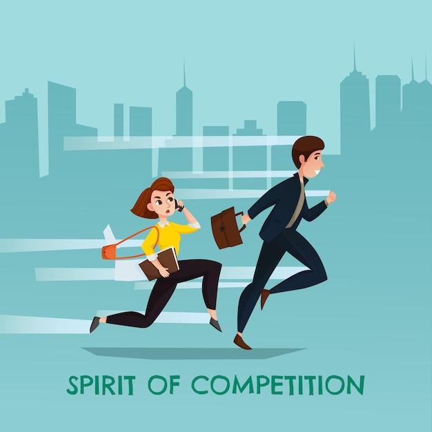 Illustration de l'esprit de compétition Vecteur gratuit