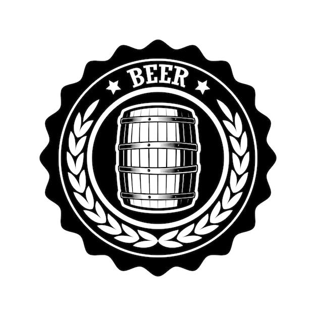 Illustration D'étiquette De Bière Vintage Vecteur Premium