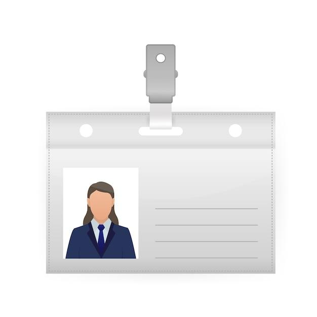 Illustration D'étiquette De Nom Sur Fond Blanc. Modèle Vierge. ,. Icône De Vecteur. Vecteur Premium