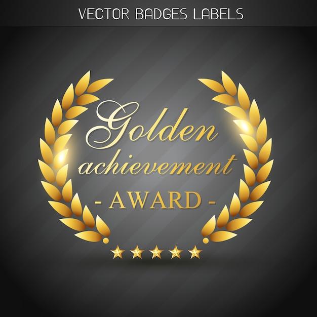 Illustration D'étiquette De Récompense D'or Vecteur Premium