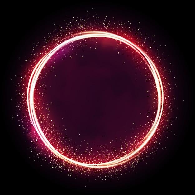Illustration D'étoile Scintillante, Cercle De Poussière, Lueur, Lumières. Vecteur Premium