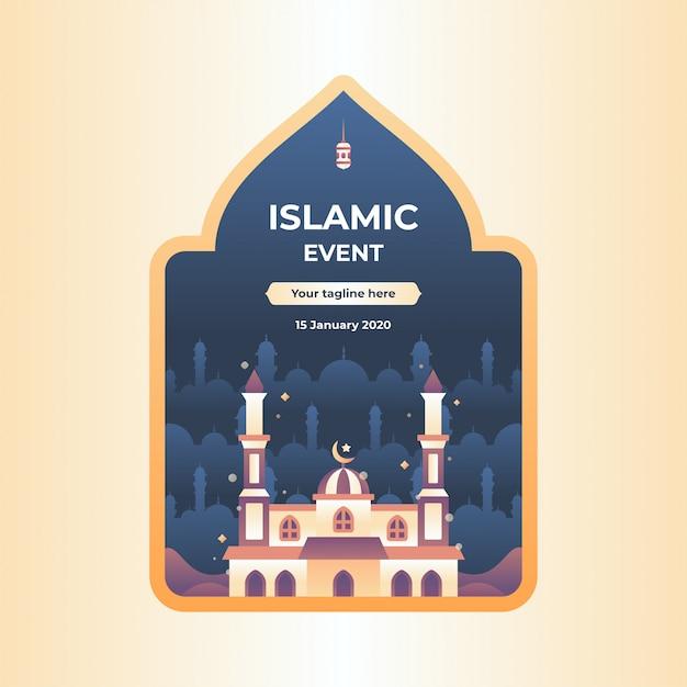 Illustration D'événement Islamique Vecteur Premium