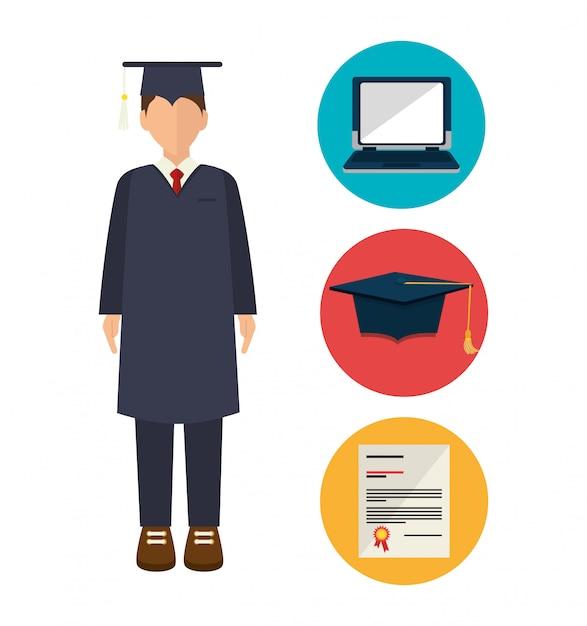 Illustration de l'excellence académique Vecteur gratuit