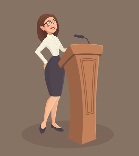 Illustration femme haut-parleur Vecteur gratuit