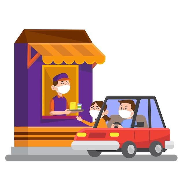 Illustration De La Fenêtre Au Volant Vecteur gratuit