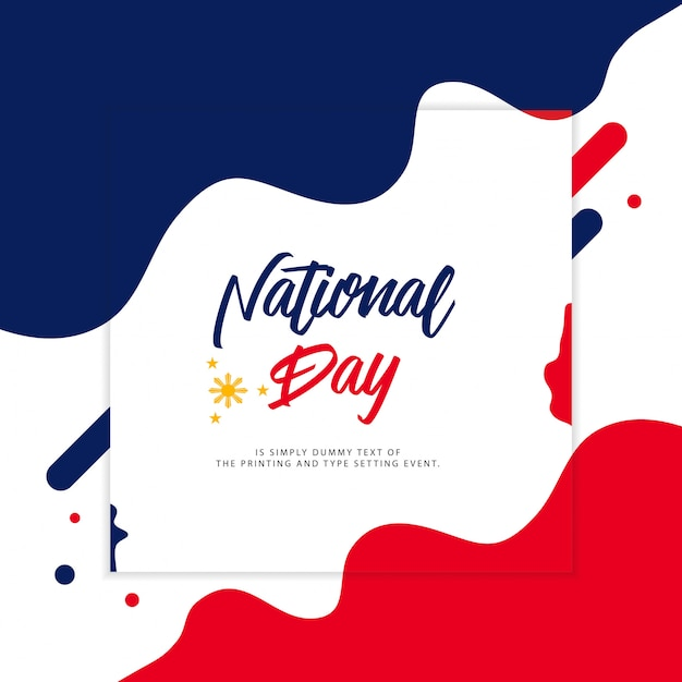 Illustration de la fête nationale des philippines Vecteur Premium