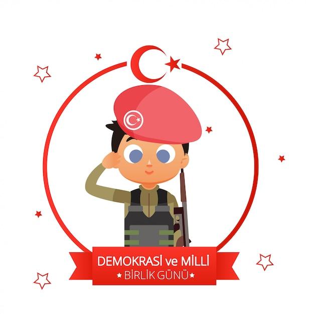 Illustration de la fête nationale de la turquie Vecteur Premium