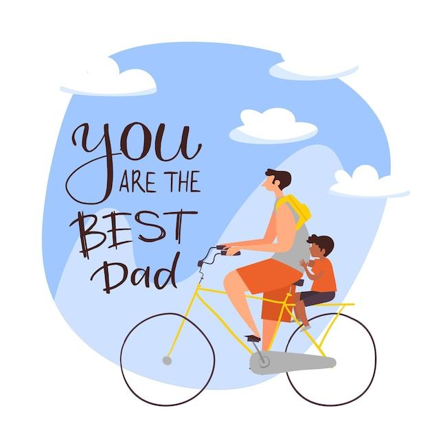 Illustration De La Fête Des Pères Vecteur gratuit