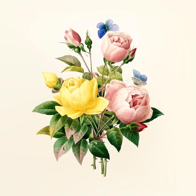 Illustration de fleur vintage Vecteur gratuit