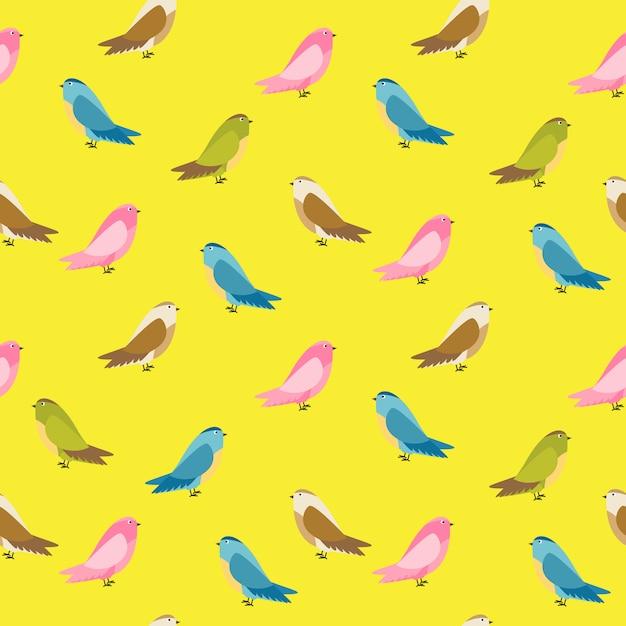 Illustration De Fond Abstrait Oiseau Sans Soudure Vecteur Premium