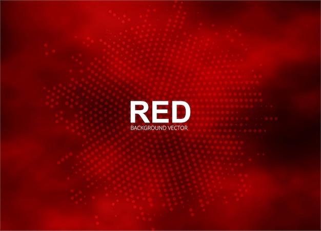Illustration de fond abstrait rouge demi-teinte Vecteur Premium