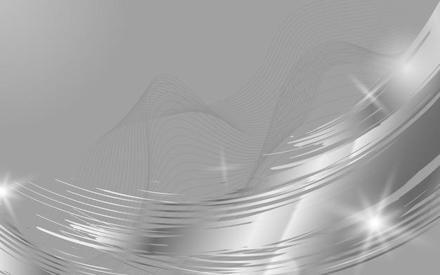 Illustration de fond abstrait vague d'argent Vecteur gratuit