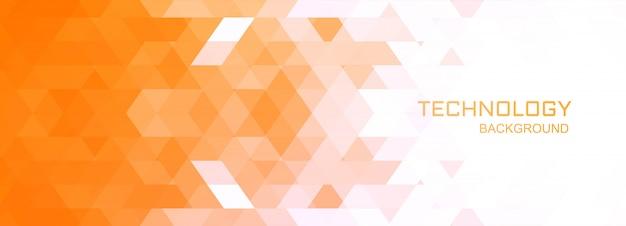 Illustration De Fond De Bannière De Technologie Géométrique Vecteur gratuit