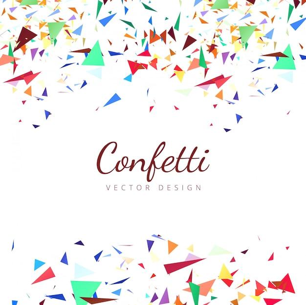 Illustration de fond confettis colorés Vecteur gratuit