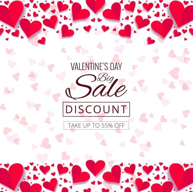 Illustration De Fond Décoratif Beaux Coeurs Saint Valentin Vecteur gratuit