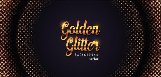 Illustration de fond de demi-teinte abstraite de paillettes d'or Vecteur Premium
