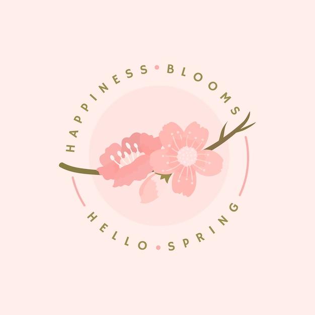 Illustration de fond de fleurs de cerisier Vecteur gratuit