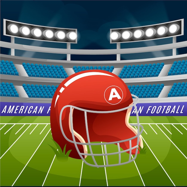 Illustration De Football Américain Vecteur gratuit