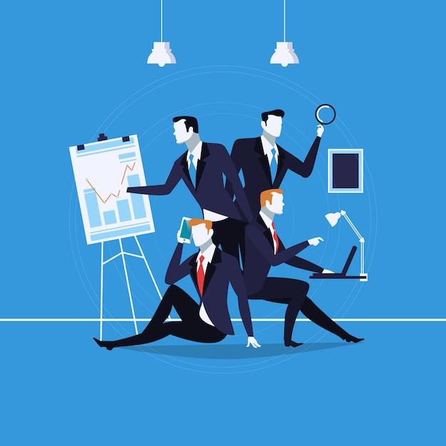 Illustration Des Gens D'affaires Au Travail Vecteur Premium