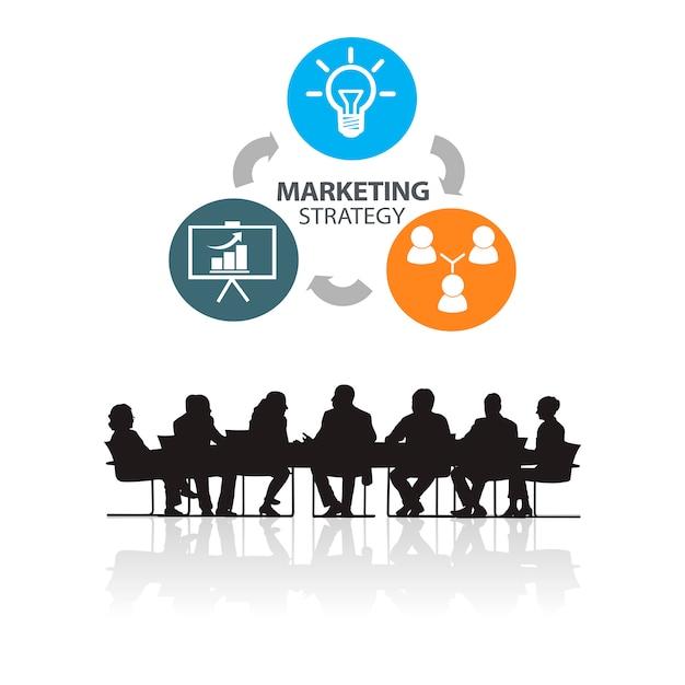 Illustration de gens d'affaires à la réunion Vecteur gratuit