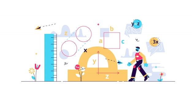Illustration De La Géométrie. Vecteur Premium