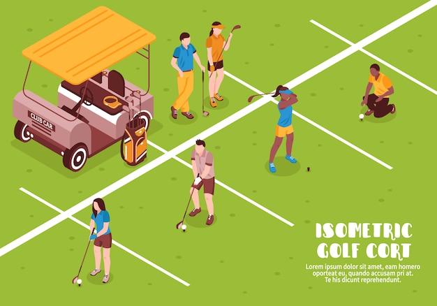 Illustration de golf Vecteur gratuit