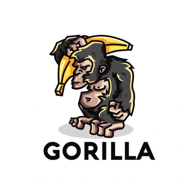 Illustration de gorille Vecteur Premium