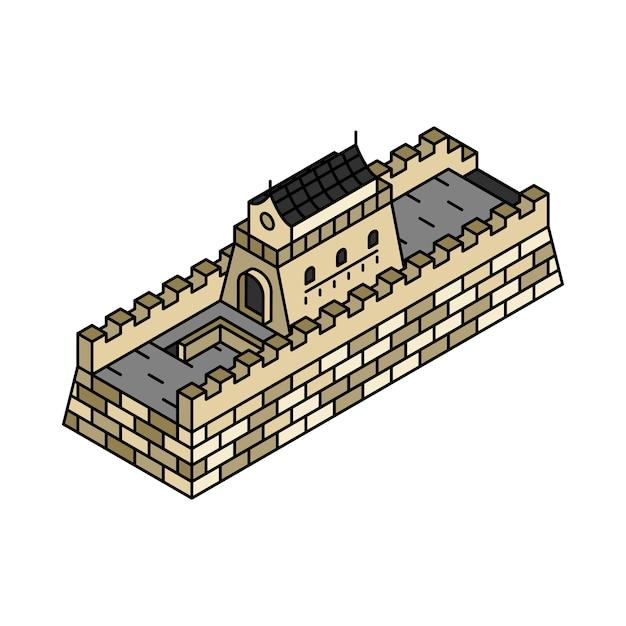 Illustration de la grande muraille de chine Vecteur gratuit