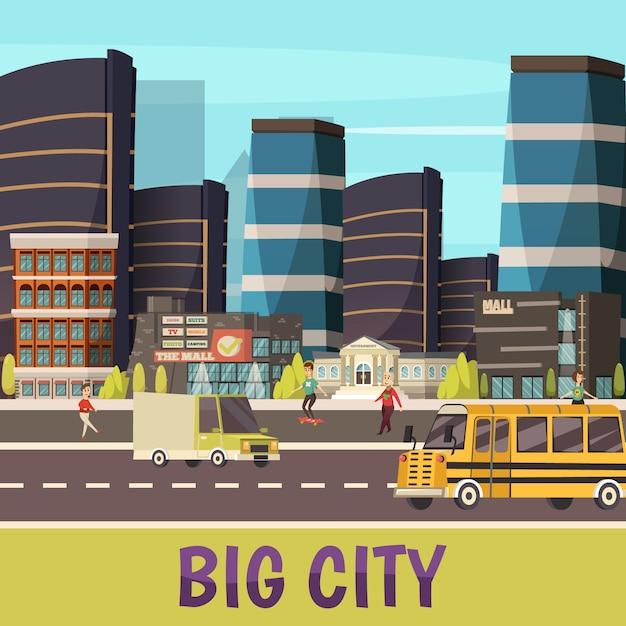 Illustration de la grande ville Vecteur gratuit