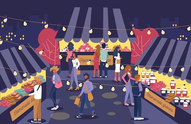 Illustration De Granola Maison Juste De Nuit. Vecteur Premium
