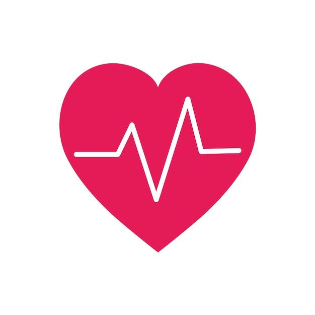 Illustration graphique de symbole de battement de coeur rouge Vecteur gratuit