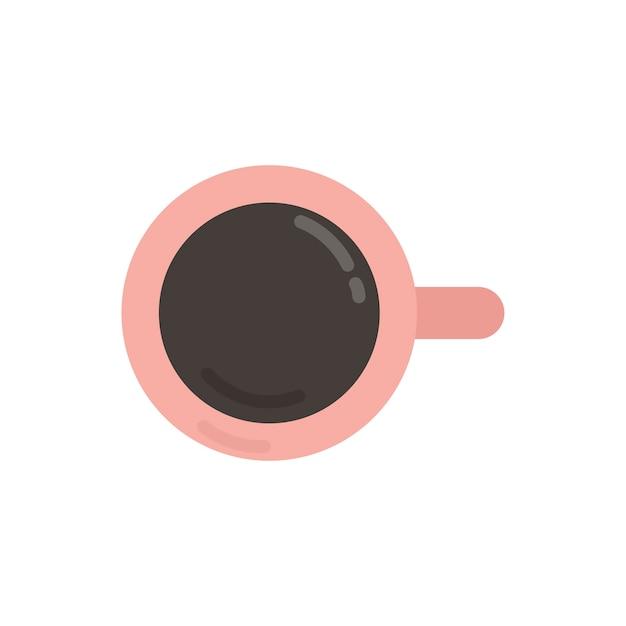 Illustration graphique de tasse à café rose Vecteur gratuit