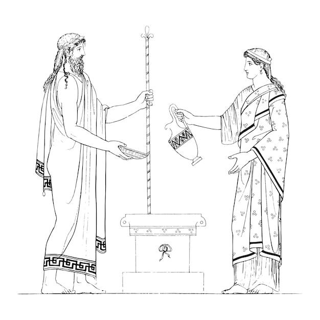 Illustration De La Grèce Antique Vecteur gratuit