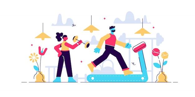 Illustration De Gym De La Vie Quotidienne. Vecteur Premium