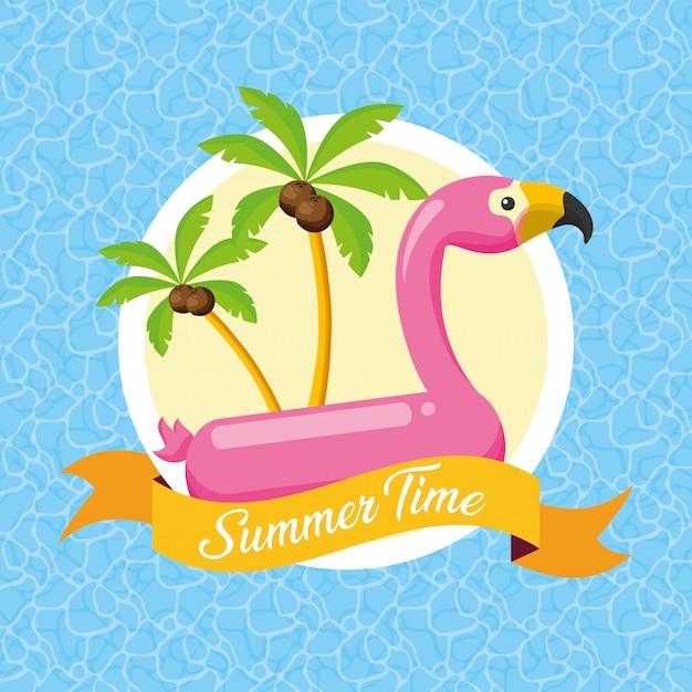 Illustration de l'heure d'été Vecteur Premium