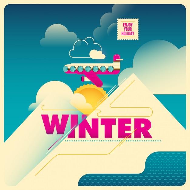 Illustration de l'heure d'hiver Vecteur Premium