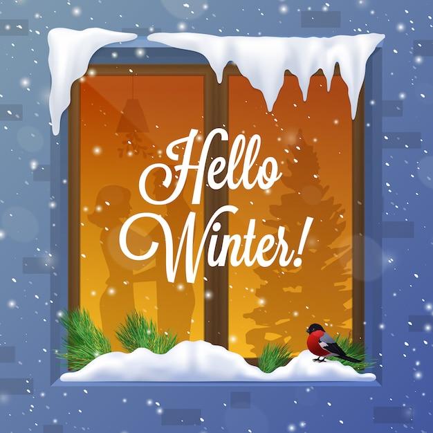 Illustration d'hiver et de neige Vecteur gratuit